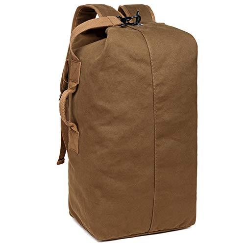 Outdoor Tasche, Herren Vintage Rucksack, Freizeit Canvas Weekend Bag Holdall Schultertasche Duffle Bag 15 Zoll Laptop Daypack für Männer Frauen 40 L wasserabweisend Pack Polyester Baumwolle