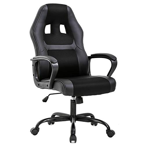 Office Chair PC Gaming Chair Cheap Desk Chair Ergonomic PU Leather Executive...