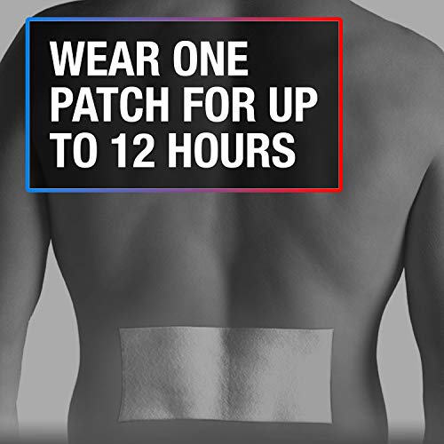 Icy Hot Max Strength Lidocaine Plus Menthol Pain Relief Patches for Back or Large Area (5 Count)