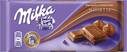 Milka Noisette, 7er Pack (7 x 100 g Packung)