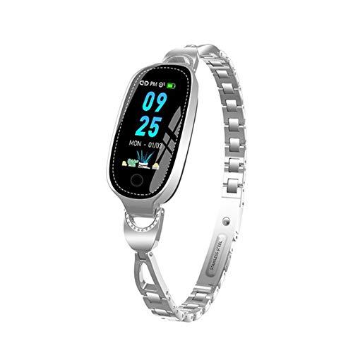 ZGLXZ F18 Waterproof Smart Watch 2021 Lady Linda Pulsera Monitor De Ritmo Cardíaco Sueño Moda Smart Pulsera iOS Android,A