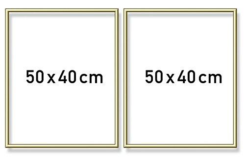 Schipper 605160705 Malen nach Zahlen, Alurahmen Diptychon 50 x 80 cm, goldglänzend ohne Glas für Ihr Kunstwerk, einfache Selbstmontage