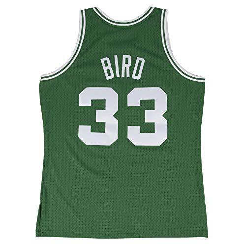 Men's #33_Bird 1985-86 Throwback Swingman Basketball Jersey - Green M