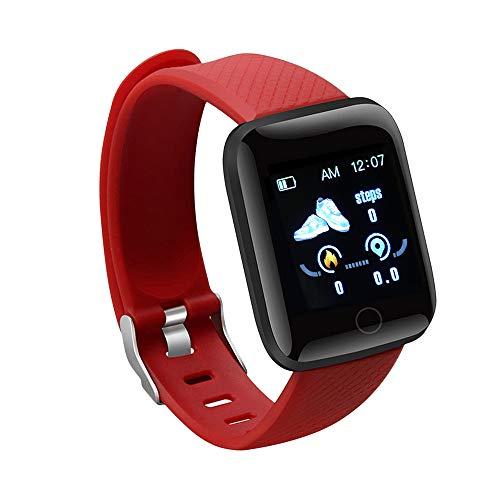 DRALO Reloj inteligente rastreador de fitness, pantalla a color de 1,44 pulgadas, IP67, impermeable, monitor de presión arterial, monitor de fitness para hombres y mujeres