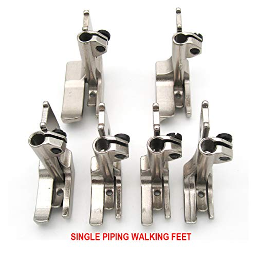 Save %6 Now! CKPSMS brand - #KP-PWF6 6SET SMOOTH BOTTOM PIPING WALKING FEET Compatible with JUKI CON...