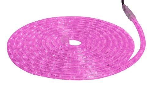 Star 562-04 Ropelight (Cordon Lumineux) Superflex, Longueur 6 m Couleur: Rose Fuchsia, 36 LED/m Very Flexible, extérieur, ca. 13 mm en diamètre, Boite coloré