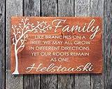 Cartel personalizado de la familia – Like branches on a tree – Letrero de madera pintado a mano – Cartel personalizado para árbol genealógico