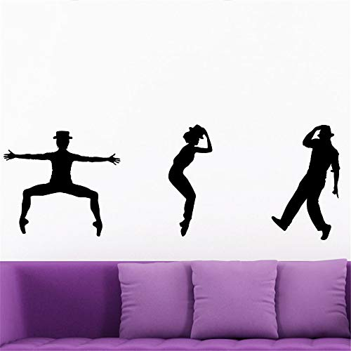 wandaufkleber flur Silhouetten und Figuren Jazz Tänzer für Wohnzimmer Schlafzimmer Musikzimmer