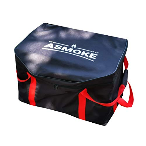 ASMOKE Grill Carry Bag AS300 Grill, Waterproof Storage Case Cover with Pockets for Grill Accessories - Heavy Duty & Portable