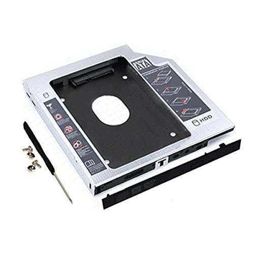 Adaptador de unidad de disco duro, adaptador de unidad de disco duro HDD SSD SATA Soporte para Apple para MacBook para disco duro de serie completa SATA I/II/III de 2,5 pulgadas (127x126x12,7 mm)