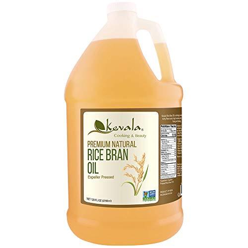Kevala Rice Bran Oil, 1 Gallon, Premium Natural, Expeller Pressed
