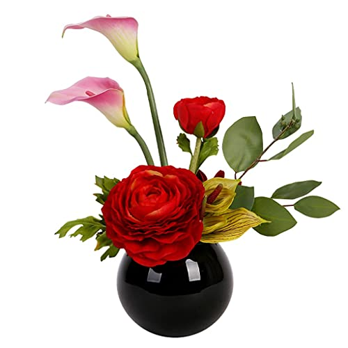Blumensträuße aus Kunststoff Gefälschte Blumen Wohnzimmer Esstisch Floral Home Simulation Blume Dekoration eignet sich für Büro Couchtisch Hotel Schreibtisch oder als Geschenk Gefälschte Blumensträuße