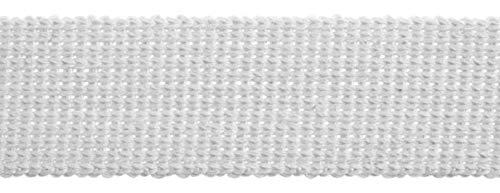 Essentiële Trimmings 30mm Katoen & Acryl Webbing Tape Witte Tape Riem Stof Strap Bag maken Schort Strapping - per 3mtrs