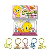 Looney Tunes Tweety Bird Logo Bandz Silly Bands 20PK + Free Elastic Necklace To Show Off Your Tweety Bandz!!!