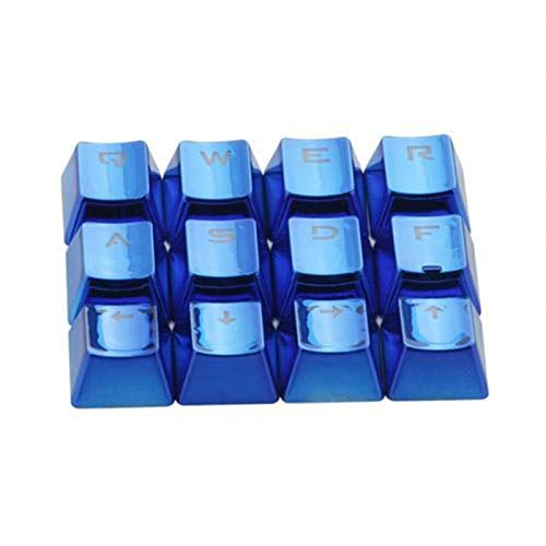 juqingshanghang1 12pcs / Set Keycaps PET-Galvanisierungs-Gaming-Tastatur Schlüsselkappen Ersatztaste Set Geeignet für Computerperipheriegeräte (Color : Blue)