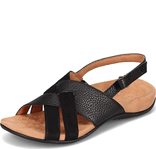 Vionic Women's Rest Eira Backstrap Sandal - Ladies Sandals with Concealed Orthotic Arch Support Black 8.5 Medium US
