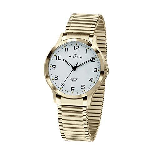 ATRIUM Damen-Armbanduhr Analog Quarz Edelstahl 5 bar Leuchtzeiger Flexband Gold A13-60