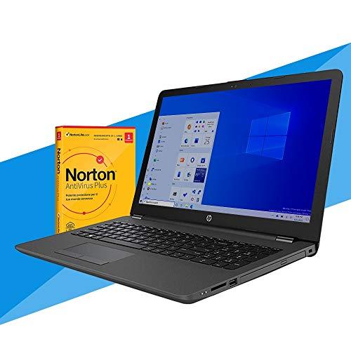 HP 255 G7 Notebook pc portatile per la DAD ,Display 15,6  , Cpu A6 3050U 3.20Ghz , Ram 8GB, SSD 256GB, WIFI, Bluetooth, Webcam, Win 10 + Antivirus