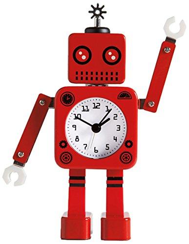 Torre & Tagus Robot (RED) Alarm Clock, 4.5x2x8