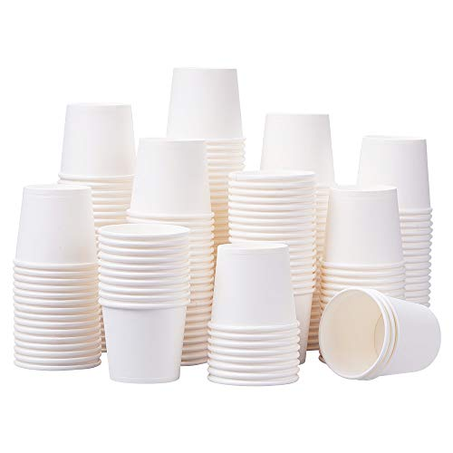 LOCONHA White Paper Cups(350Pack), Disposable Paper Coffee Cups (3.5 Oz)