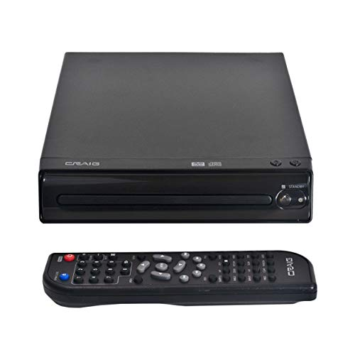 Craig CVD512a Compact DVD Player with Remote in Black | Compatible with DVD/DVD-R/DVD-RW/JPEG/CD-R/CD-RW/CD | Progressive Scan | Multilingual Supported |