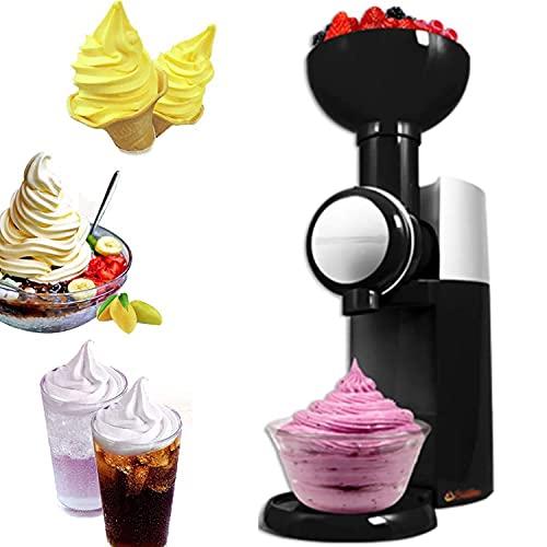 iuyomhes Eismaschine Für Zu Hause, Dessertmaschine Für Gefrorene Früchte, Automatische Mini-softeismaschine, Gesund, Milchfrei, Veganes EIS, Einfache One-Push-bedienung, Einfache Reinigung