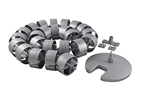 HJHQQ-CZYHG Guía de Cable de 750 mm Redonda KABA 2-4 Cadena de Cable Plateado Tubo de Cable (Color : 1200 mm)