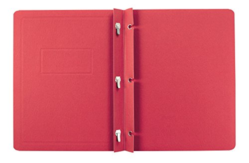 Oxford Title Panel and Border Front Report Covers, Red, Letter Size, 25 per Box, (52511)