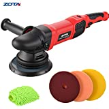 ZOTA Polisher, 21mm Long-Throw Upgraded Orbital Polisher, 6.5'/ 900W Dual Action Car Buffer kit with 3 Professional Pad