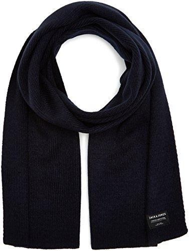 JACK & JONES Jacdna Knit Scarf Noos Sciarpa, Blu (Navy Blazer Navy Blazer), Taglia unica Uomo