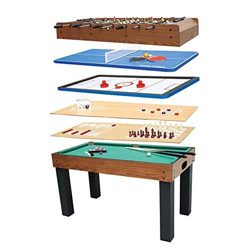 Kickertisch, Kombinationsspieltisch 8 in 1 Einschließlich Foosball/Billiard/Hockey/Tischtennis/Backgammon/Schach/Shuffleboard/Bowling FDWFN