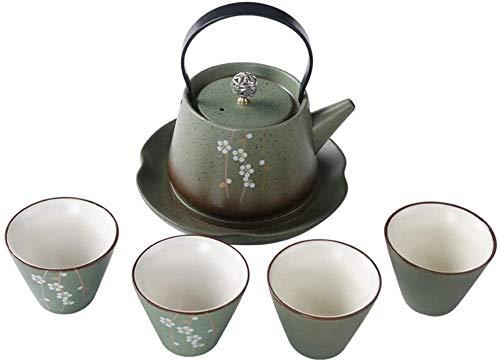 Teteras / Café Conjunto de taza de té de porcelana de cerámica Tetera acristalada de cerámica con asa y taza de té Tea de té de la tarde Regalos para el hogar y regalos para la decoración del hogar pa