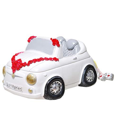 Topshop24you wunderschöne Spardose,Sparschwein,Hochzeitskasse Cabrio Hochzeitsauto,Hochzeits-Auto zur Hochzeit,Hochzeitspaar im Auto