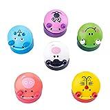 OTTF Castañuelas de madera de animales de dibujos animados de 6 colores, juguetes musicales de los instrumentos de la educación temprana para los niños del bebé