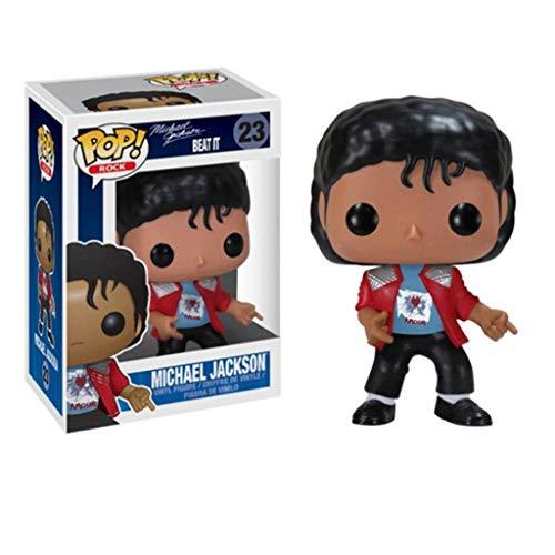 CJH Michael Jackson in een rode mantel: pop-charmante karikatuur pvc-afbeelding met uitstekende verpakking De Best Collection for Michael Jackson fans grootte: 10 cm