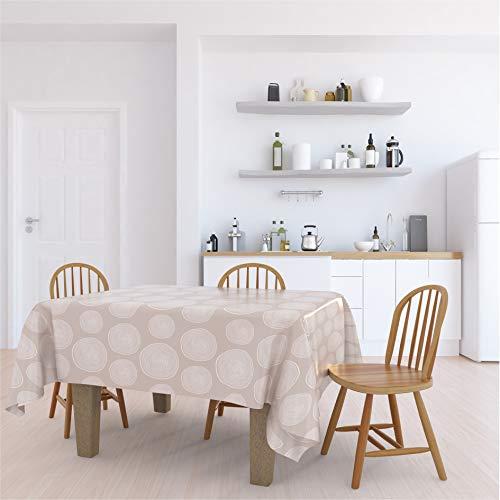 Lileno Home - Mantel lavable, Estocolmo., 160 x 140 cm (Schnittkante)