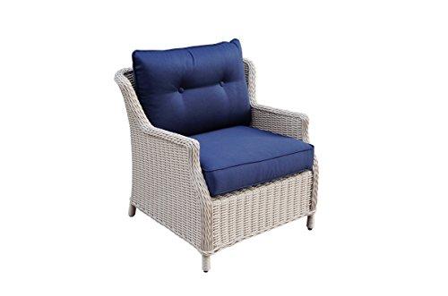 Büloo Polyrattan Gartenmöbel Lounge Set Sitzgruppe mit 2-Sitzer-Sofa oder 3-Sitzer-Sofa, Farbe in helles beige oder braun, aus Aluminium, fertig montiert (3-Sitzer-Sofa, braun/Weiss) Bild 2*