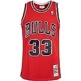 Mitchell & Ness Swingman Scottie Pippen Chicago Bulls 97/98 - Camiseta (talla XXL, color rojo)