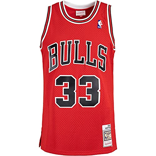 Mitchell & Ness Swingman Scottie Pippen Chicago Bulls 97/98 - Camiseta (talla XL), color rojo