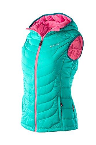 Hi-Tec Lady Femme Neri Padded Vest, Sharp Green/honeysucle/Harbor Blue, XL