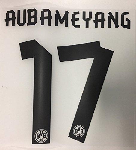 Flock Original BVB Borussia Dortmund Trikot 17cm - AUBAMEYANG 17