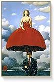 SXXRZA Imagen de póster 30x50cm Sin Marco Rene Magritte Posters Pintura Famosa Artista Surrealismo Paraguas Chicas Arte Abstracto de la Pared Arte Pop Decoración del hogar