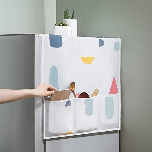 Iaywayii Startseite Wasserdicht Kühlschrank Staubschutz mit Aufbewahrungstasche für Küchenwäsche Maschinenteile Bunte Blumen Kühlschrank Abdeckung