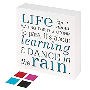 Kauza Dance In The Rain - Home Decor Signs Decorative Signs Inspirational Plaques,Wooden Signs With Sayings Inspirational Gifts