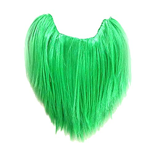 AM-Clearance St. Patrick's Day Green Fake Beard,Irish Festival Funny Green Self Adhesive Mustache,Venue Layout Props Costume Accessory for Irish Holiday Party Decoration Supplies,Gift for Kids Adults