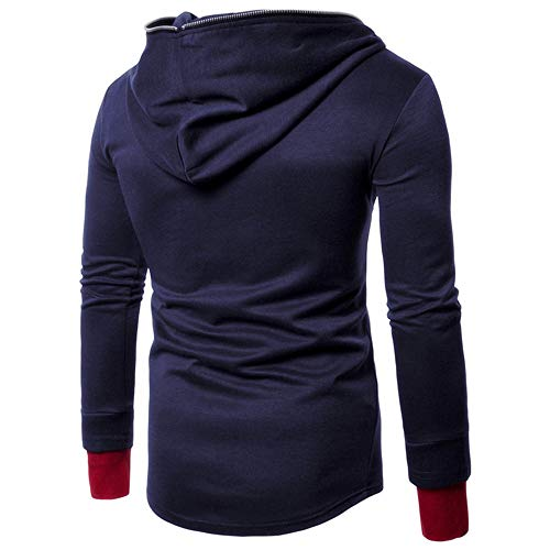 PRJN Men's Diagonal Zipper Hoodie Men's Casual Long Sleeve Hoodie Men's Long Sleeve Hoodie Men's Sports Long Sleeve Hoodie Men's Slim Sports Long Sleeve Hoodie Men's Solid Color Hooded Sweater