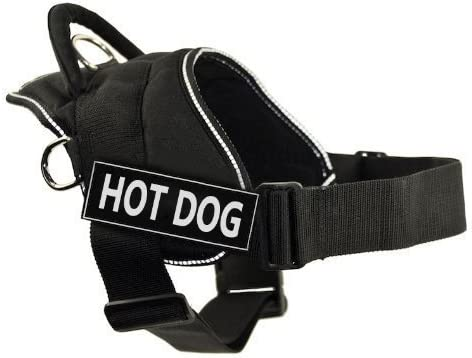 DT Fun Harness Cheap SALE Start Hot Dog Black F Baltimore Mall Trim with - X-Large Reflective