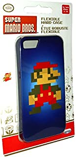 PDP - Super Mario Bros Pixel - Flexible Hard Case for iPhone 5 / 5S - Blue