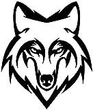 Adhesivos retroreflectantes para casco de cabeza de lobo