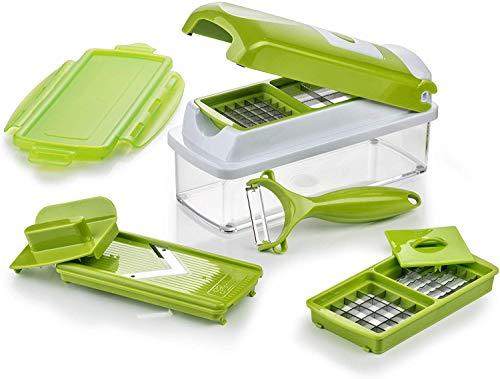Genius Nicer Dicer Smart Cortador de Verduras y Frutas, Acero Inoxidable y plástico, Verde Kiwi, 22.2 x 10 x 8.1999999999999993 cm